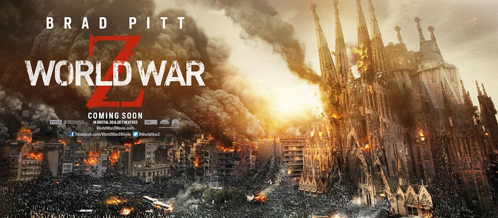 world-war-z-nuevos poster-sagrada familia de Barcelona