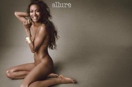 Zoe Saldana se desnuda