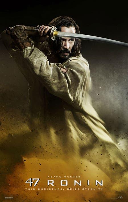 póster de 47 Ronin con Keanu Reeves