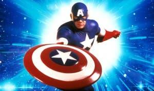 Imagen promocional del primer filme sobre el Capitán América