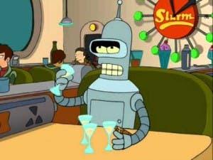 El mítico Bender, en un bar