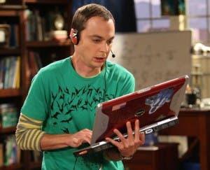 Sheldon (Jim Parsons), en acción