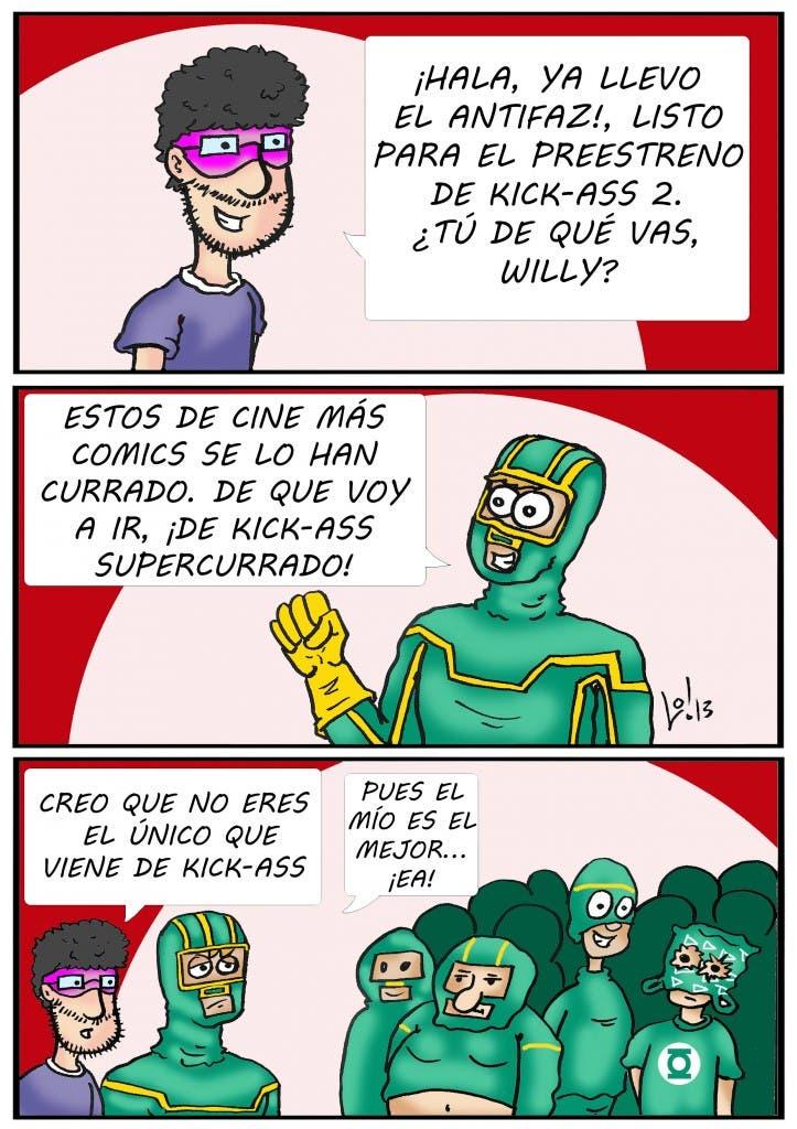 Tira cómica 024 de 'Willy, extra de cine y friki', de Luis orús