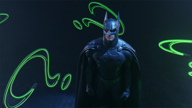 Val Kilmer como el caballero oscuro en Batman Forever