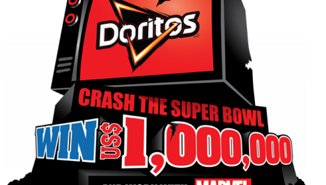"Gana $1 millon de dólares en el concurso mundial de Doritos ""CRASH THE SUPER BOWL"""