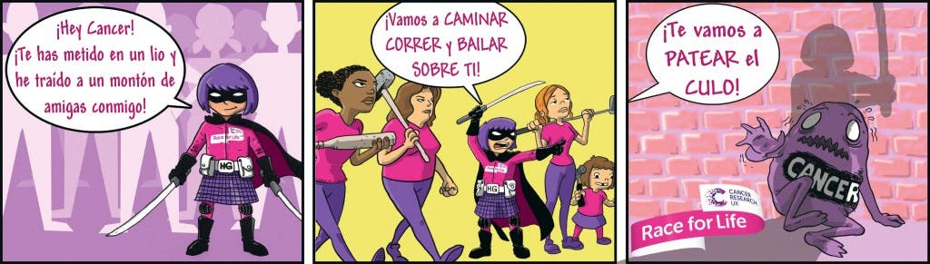 HIT GIRL contra el cancer