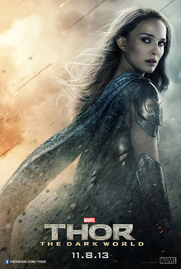 Poster de Jane Foster para Thor: El mundo oscuro