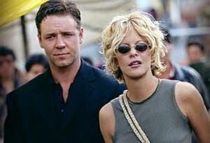 Meg Ryan, con Russell Crowe en 'Prueba de vida', donde tuvieron un romance