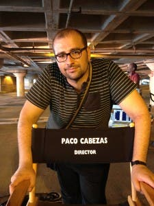 Paco Cabezas en el rodaje de Tokarev
