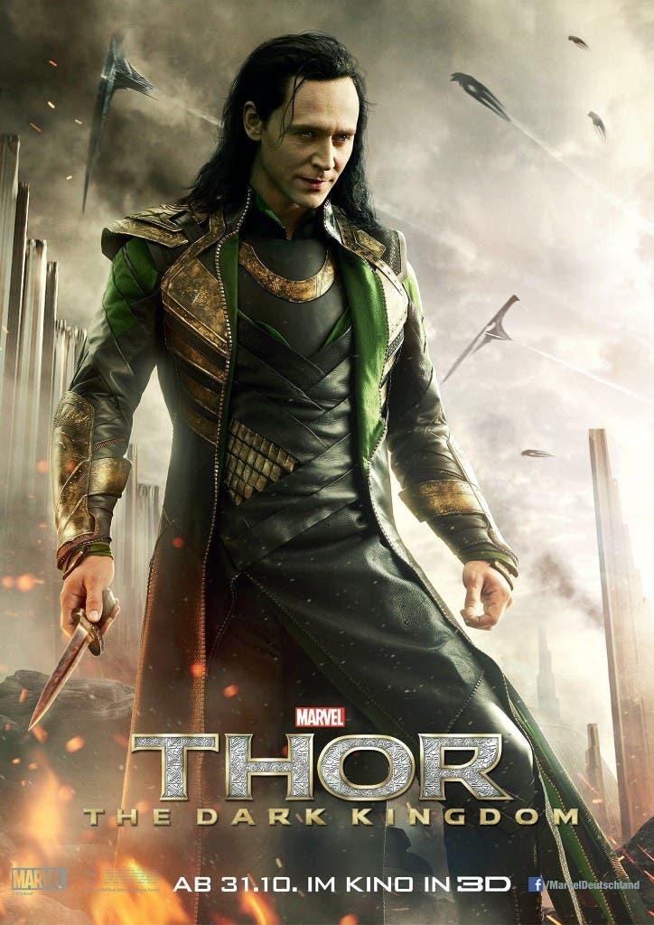 Poster de Loki en Thor el mundo oscuro