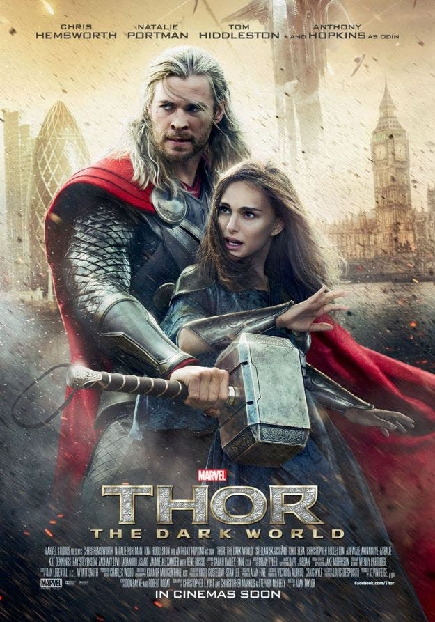 Póster para Inglaterra de Thor: El mundo oscuro