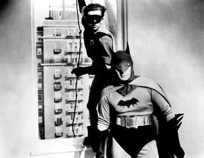 Fotograma con el Batman de Lewis Wilson