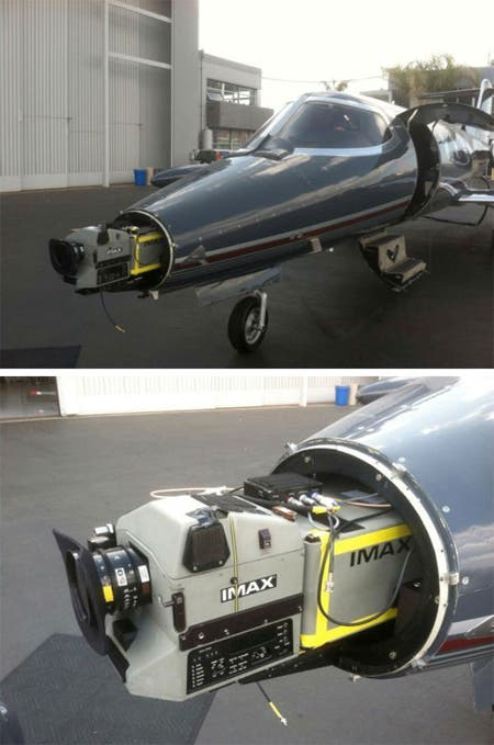Cámara IMAX para Interstellar en un Jet