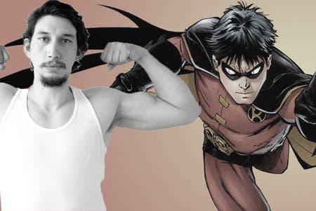 Adam Driver podría ser Robin en Batman vs Superman