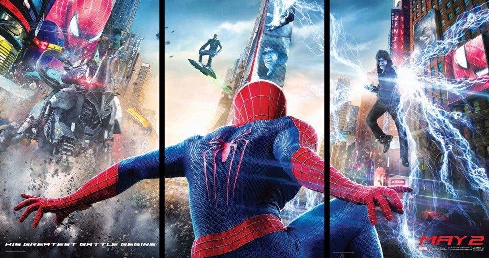 amazing-spider-man-2-banner-poster-hd-electro-green-goblin
