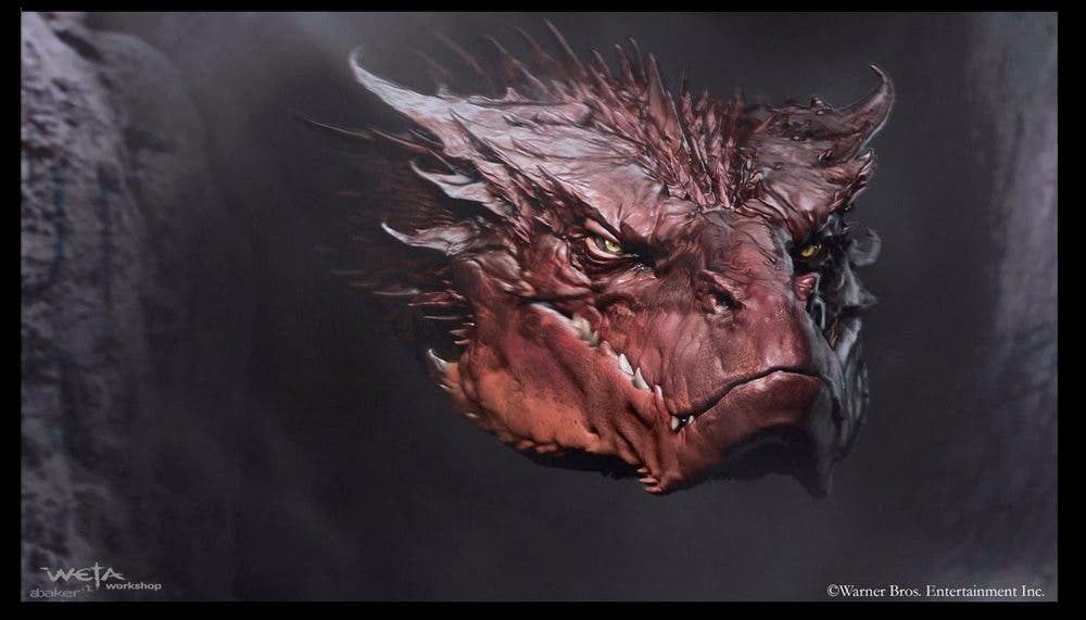 Concept art Dragon Smaug de El Hobbit