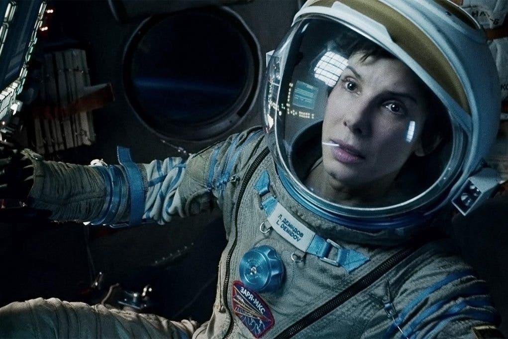 Fotograma de Sandra Bullock en Gravity