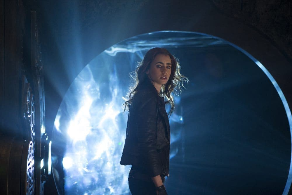 Lily Collins en The morta instruments city of bones
