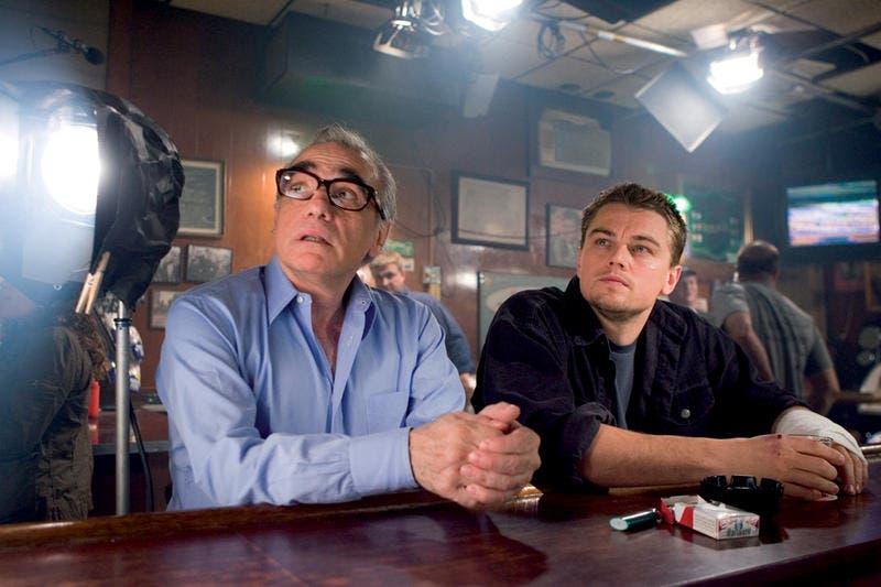 Scorsese junto a DiCaprio en el rodaje de INFILTRADOS