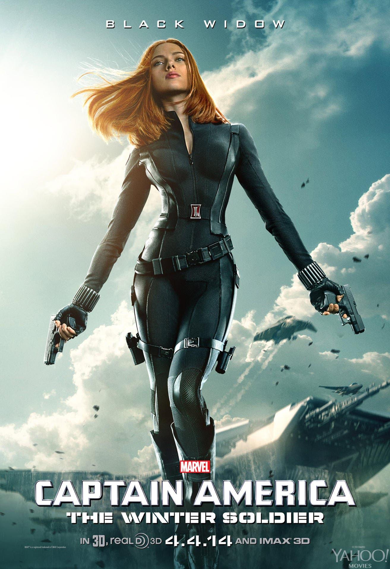 Poster Scarlett Johansson Black Widow Capitán América Soldado de Invierno