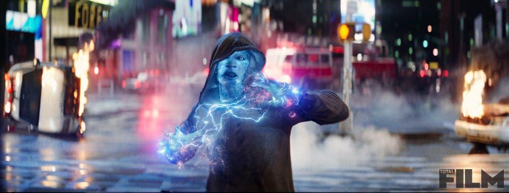 Jamie Foxx como Electro en una escena de The Amazing Spider-man
