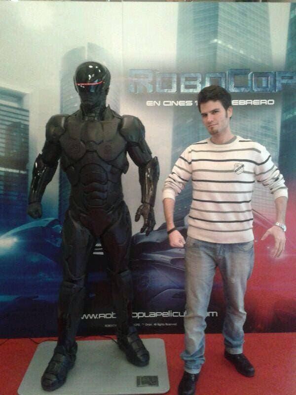 Eduardo Quinta con Robocop