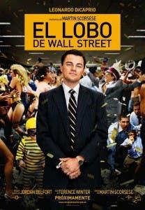 Cartel El lobo de Wall Street