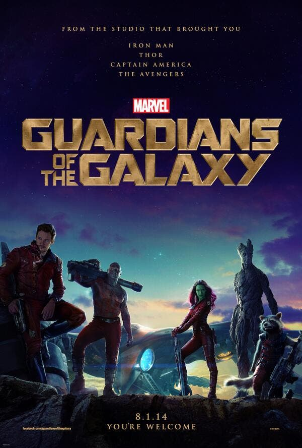 Primer poster de Los Guardianes de la Galaxia