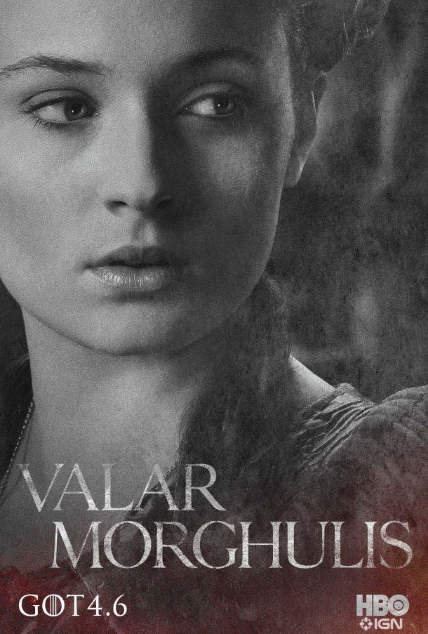 Póster 4 temporada Juego de Tronos Sansa Stark
