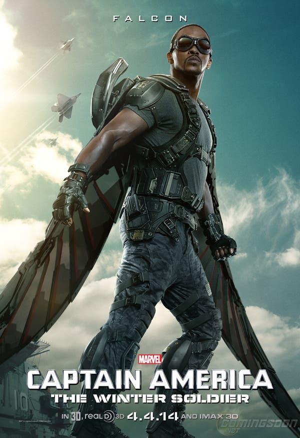 Póster de Halcón (Anthony Mackie) en Capitán América: El Soldado de Invierno