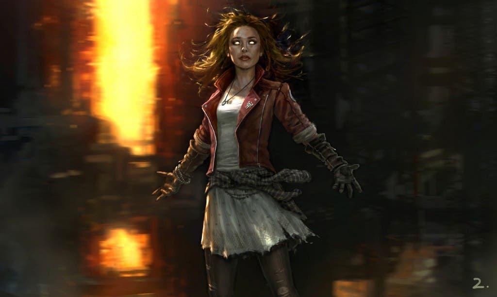 Elizabeth Olsen's como la bruja Escarlata