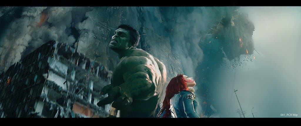 Hulk y Viuda Negra en La era de Ultron