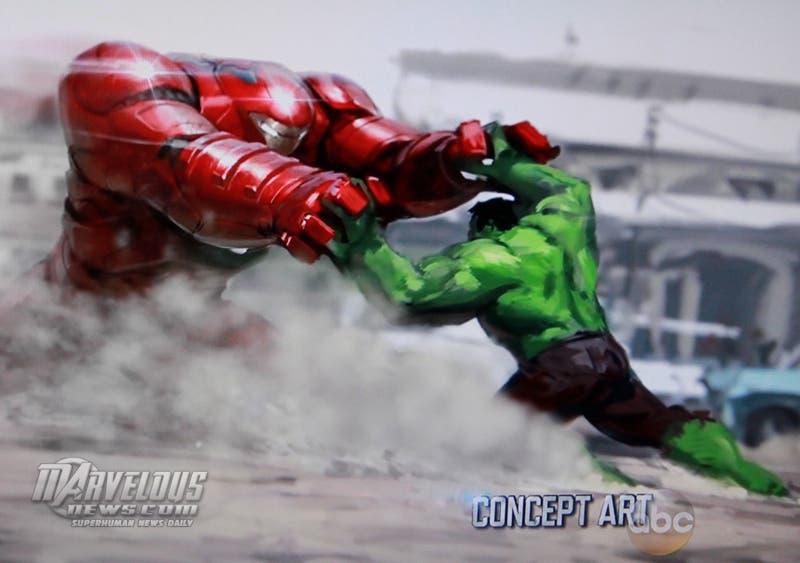 Hulkbuster vs Hulk en La era de Ulron