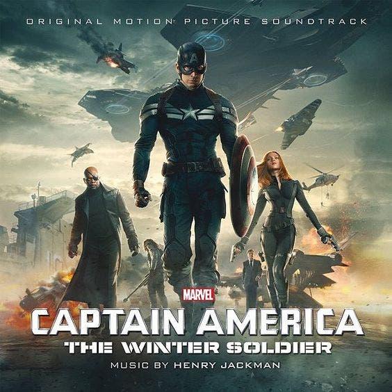 Portada BSO de Capitán América. El soldado de invierno