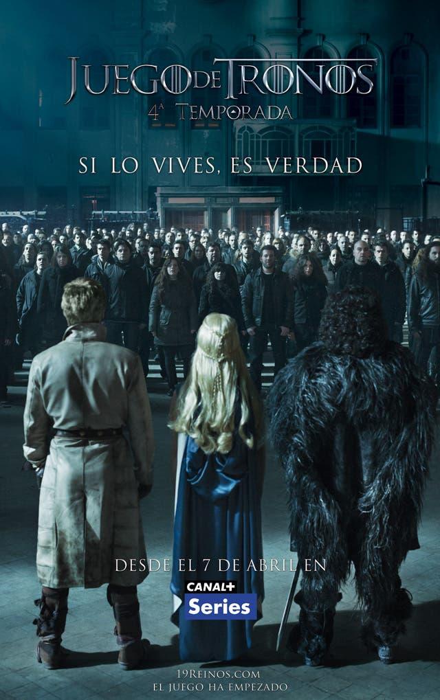 Poster canal plus de la cuarta temporada de 'Juego de tronos'