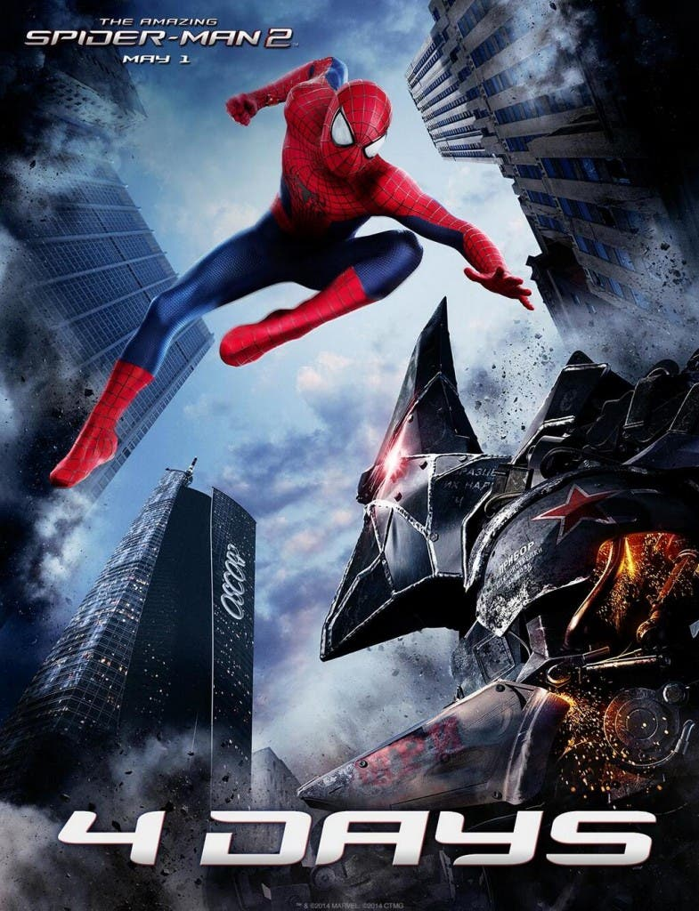 Spidey and Rhino The Amazing Spider-man 2