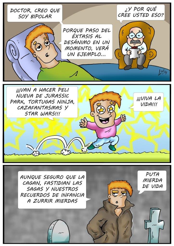 Tira cómica 53 de 'Willy, extra de cine y friki'