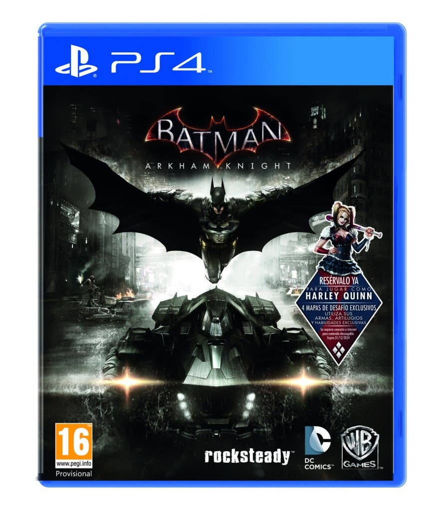 Portada Batman: Arkham Knight Ps4
