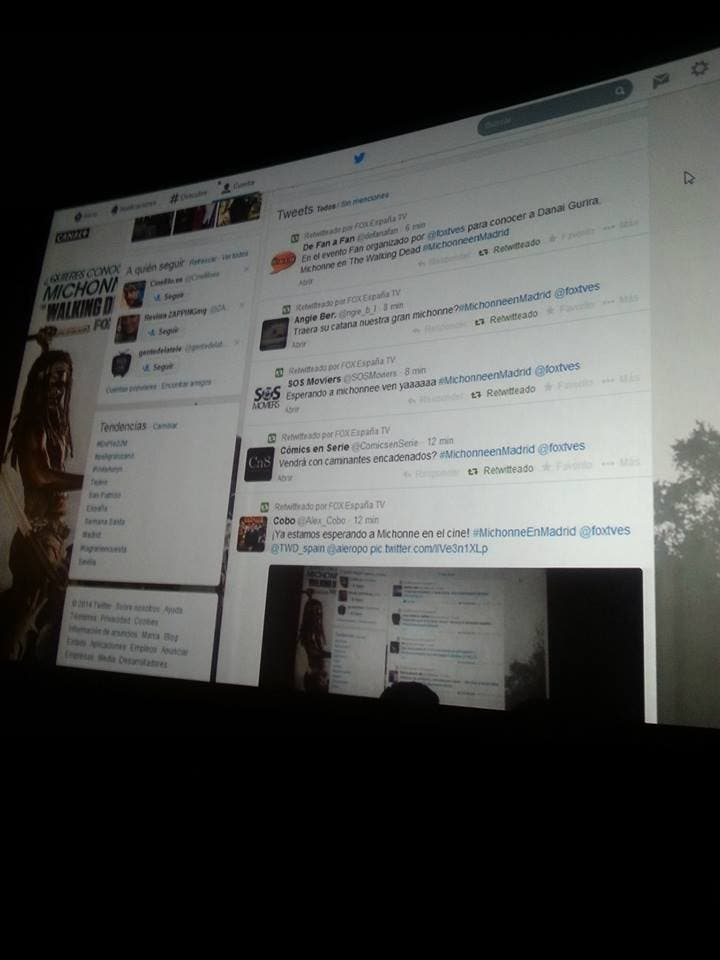 hashtag y twitter del evento The Walking Dead