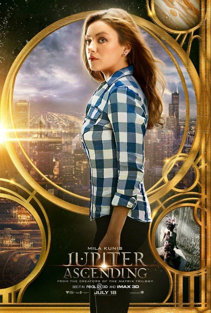 Póster de Jupiter Ascending con Mila Kunis