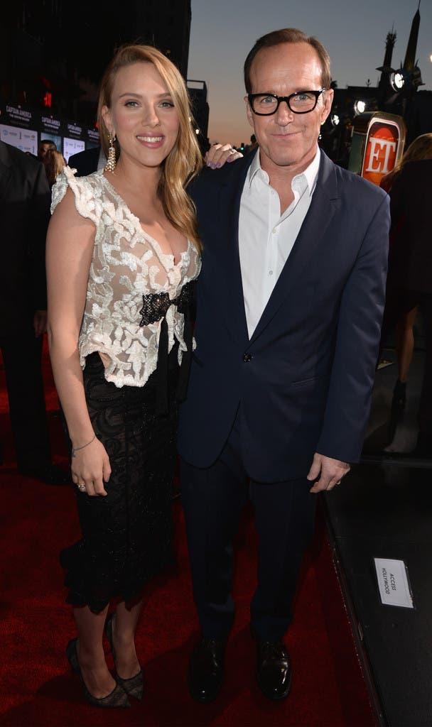 Clark Gregg (Coulson) junto a Scarlett Johansson