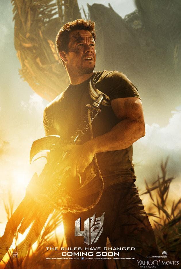 poster Mark Wahlberg de Transformers: la era de la extinción