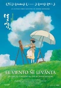 Cartel español del 'anime' 'El viento se levanta'