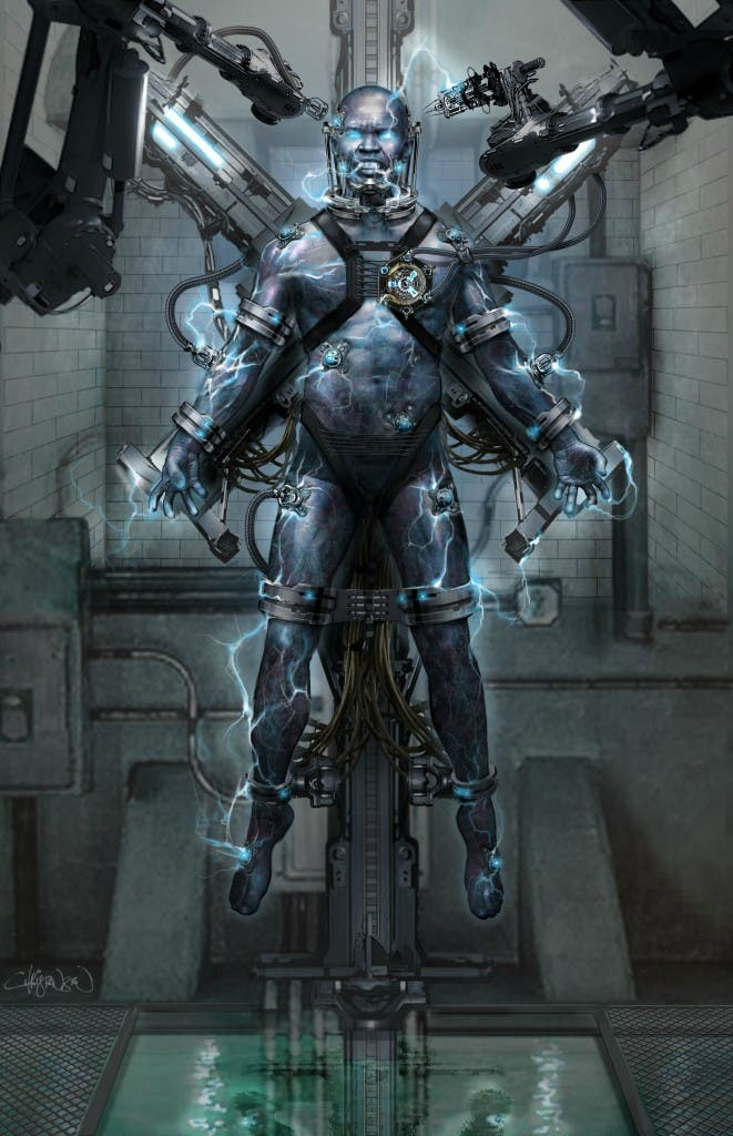 Concept art de Keith Christensen de The amazing Spider-man 2: El poder de Electro