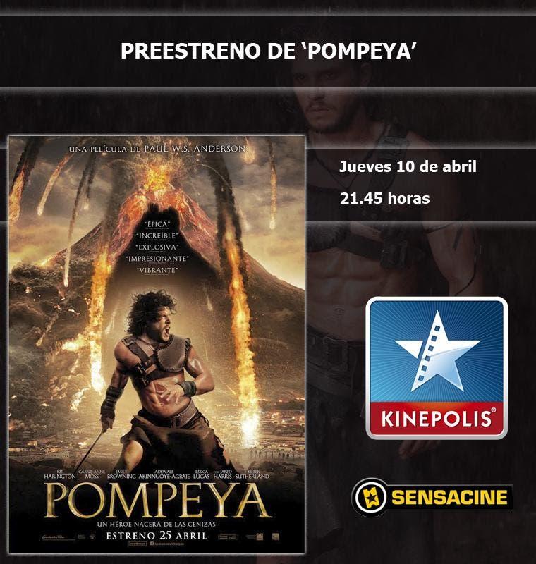 Preestreno de Pompeya