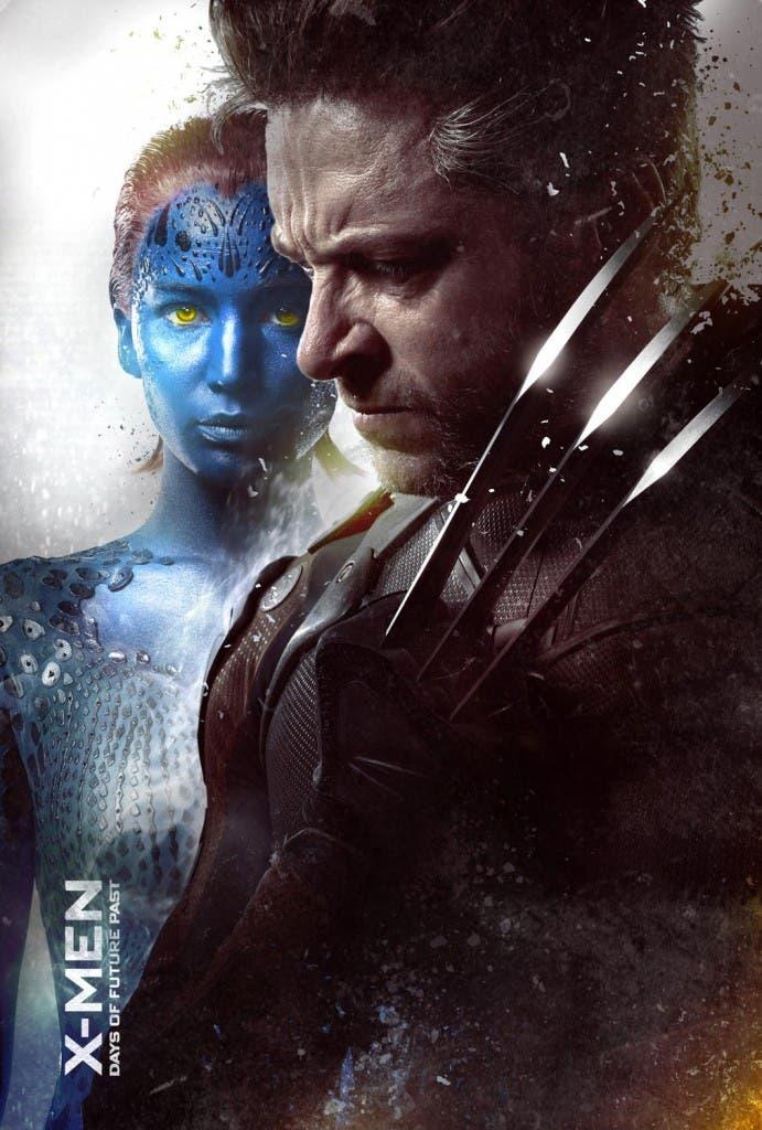 Lobezno y Mística en 'X-men días del futuro pasado'