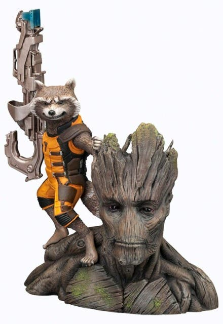 Estatua Rocket Raccoon ARTFX+
