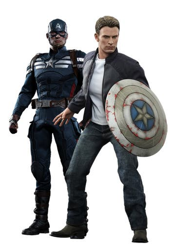 Set Captain America & Steve Rogers Hot Toys