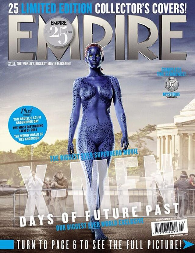 Jennifer Lawrence como Mística en Empire