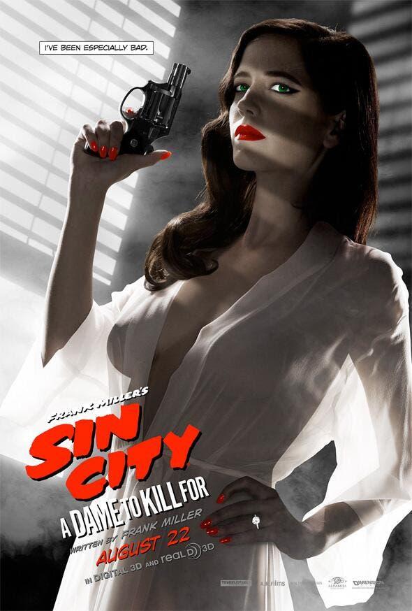 Póster de Eva Green en Sin City una dama por la que matar